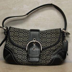 Coach 6818 Black Mini Soho Signature Shoulder Bag